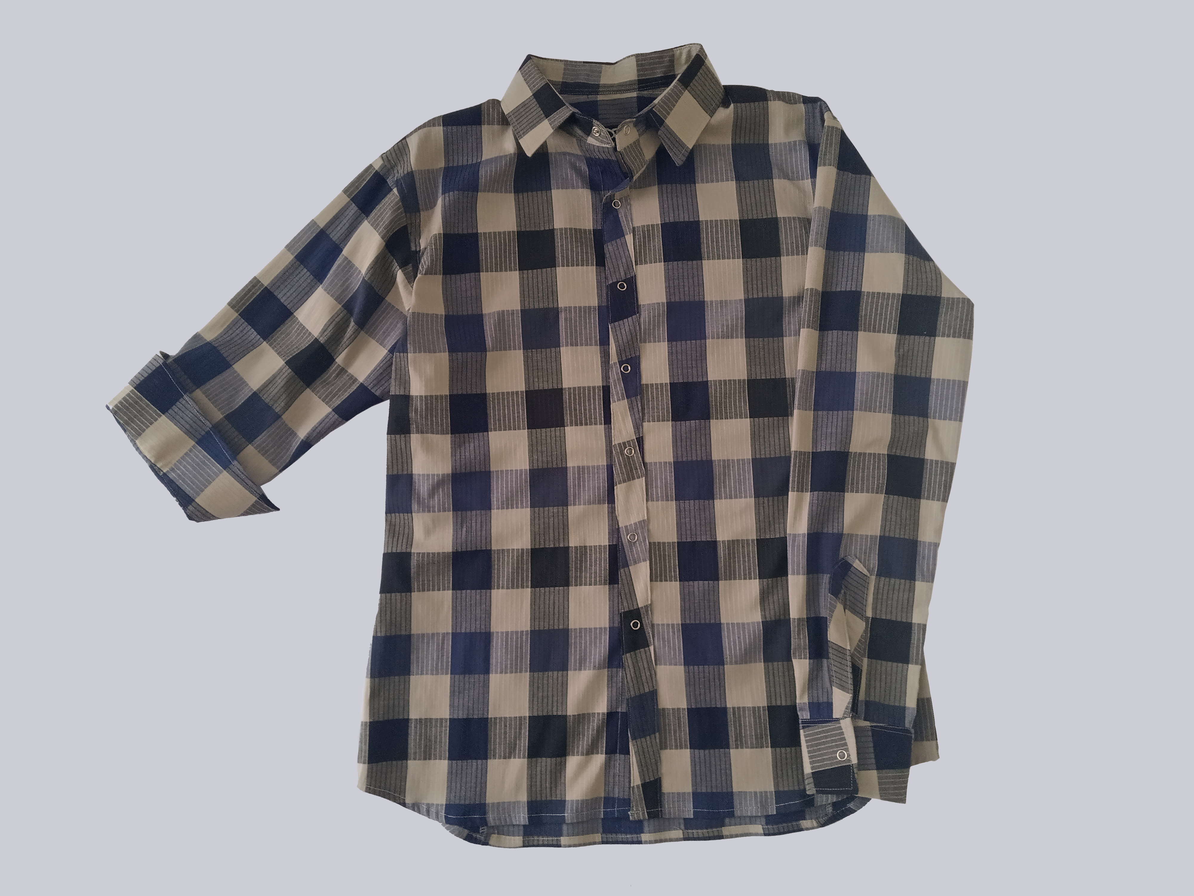 Beige check shirt